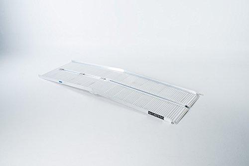 WORHAN® 2.44m Rampe Alu Pliable Valise Aluminium Pour Fauteuil Roulant Chargement Scooter Plate-Forme Aluminium Anodisé 244cm R8