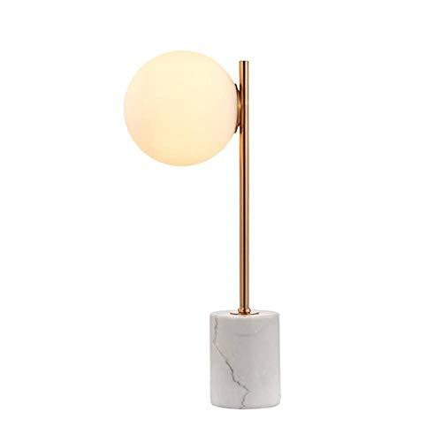 JFHGNJ Tafellamp, moderne tafellamp met albast basis en glazen bol voor familiehotel