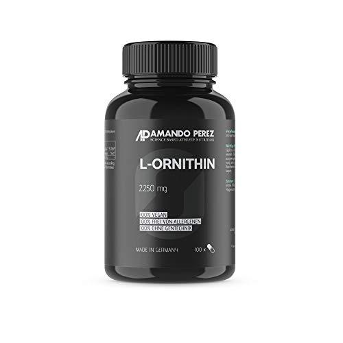 L-Ornithin 2250 mg pro Dosis • 100 Kapseln • Hochdosiert • Semi-Essentielle Aminosäure