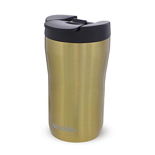 Aladdin Latte Leak-Lock Stainless Steel Mug 0.25L Gold – Auslaufsicher - Doppelwandige Vakuumisolierung - Edelstahlbecher - passt unter die meisten Kaffeemaschinen - BPA-Frei - Spülmaschinenfest