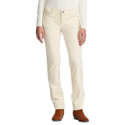 Chaps Women's 21 WALE Straight Corduroy-Pant, Summit Ivory, 4 from Chaps