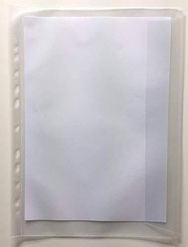 25x Prospekthülle Dokumentenhülle, Dokumentenecht, Größe Folio A4+ ÜBERGRÖßE mit Klappe 233x330mm 120my (0,12mm) genarbt ohne Weichmacher, recycelbar !