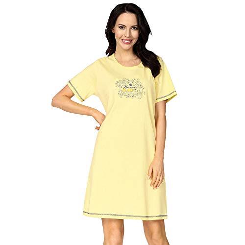 Comtessa Damen-Nachthemd Single-Jersey gelb Größe 44/46