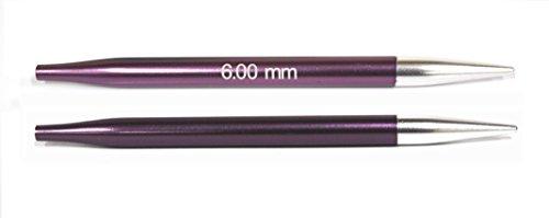 Knit Pro Zing Especial Tejer Circulares Intercambiables, de Aluminio, Multicolor, 6.00mm