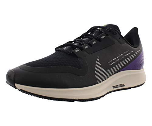Nike Women's W AIR Zoom Pegasus 36 Shield Running Shoes, Black (Black/Silver-Desert Sand-Voltage Purple-Volt 002), 5 UK