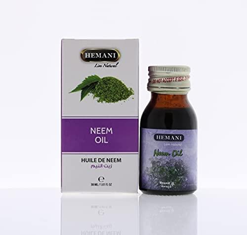 100% puro y natural ingredientes extractos esenciales de aceite de neem Hemani 30ml vegano natural y libre de crueldad cosechado éticamente