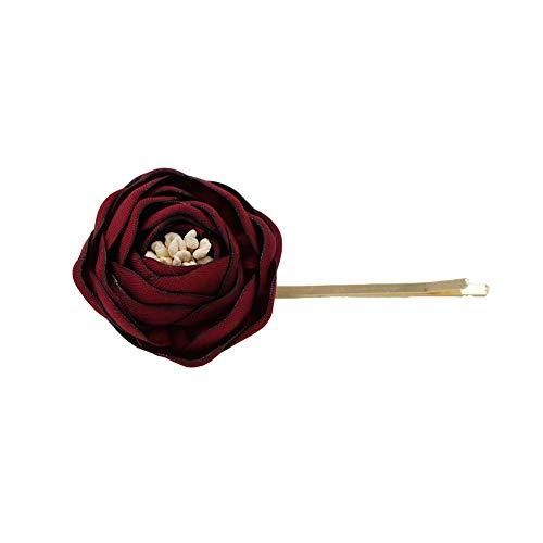 Broche para el pelo de novia con diseño de rosas y flores, para dama de honor