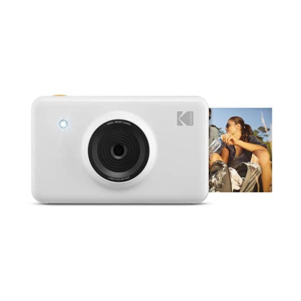 KODAK Mini Shot Instant Print Digital Camera LCD Display, Premium Quality Full Color Prints (White) None Bluetooth, KOD-MSWNBT