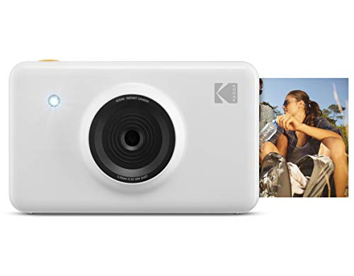 KODAK KOD-MSW Mini Shot Wireless Instant Digital Camera & Social Media Portable Photo Printer, LCD Display, Premium Quality Full Color Prints, Compatible w/iOS & Android (White)