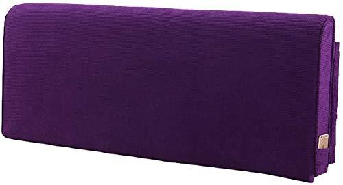 Sängkudde Stor Rygg Waist Pad Säng Kudde Gavel Rygg sängen och läsa Pillow bäddsoffa Rygg Office Lumbar Pad kudde (Color : Purple, Size : 120cm)