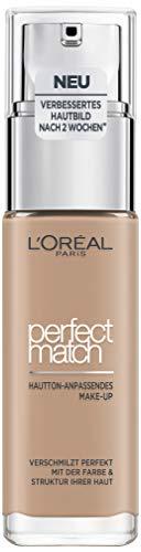 L'Oréal Paris Make up, Flüssige Foundation mit Hyaluron und Aloe Vera, Perfect Match Make-Up, Nr. 3.R/3.C Rose Beige, 30 ml