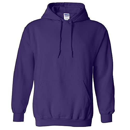 Gildan Adult Heavy Blend Hooded Sweatshirt (Purple) (X-Large)