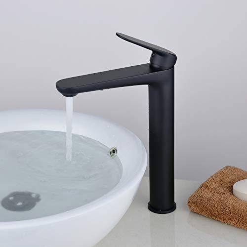 Badarmatur - Wasserhahn Bad Schwarz Waschtischarmatur Hoch Auslauf Einhebel-Mischbatterie