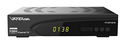 Vantage VT93 T-HD IR DVB-T2 Receiver (HDMI, USB 2.0, Full HD, Irdeto Embedded) schwarz