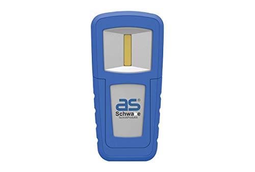 as - Schwabe Lichtfabrik Akku Batterieleuchte – 1,5 W Profi Arbeitsleuchte Spot Taschenlampe/Handlampe – Mobile LED Leuchte mit Gürtelclip – IP20 – Blau I 42822, 1.5 W, 230 V
