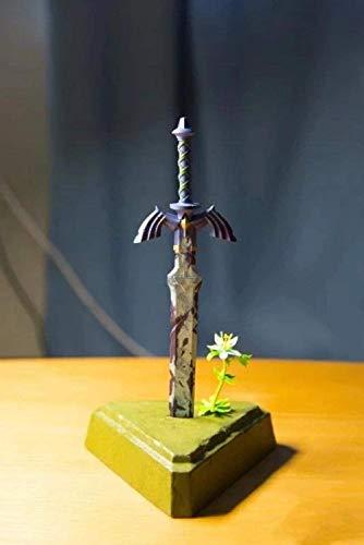 Nbrand Anime Statue Anime Figur Die Legende von Zelda Masters Schwert Desktop Dekoration Zubehör 26cm