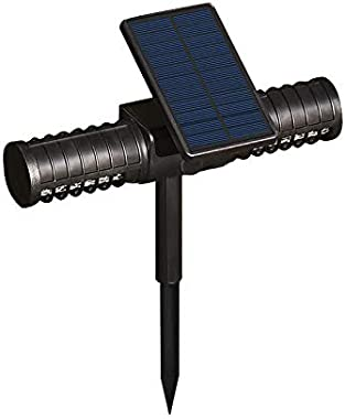 QIKI Solar Powered LED Mosquito Killer Lamp with Double Head - Outdoor Garden Lawn Mosquito Repellent Path Light Mosquito Tra