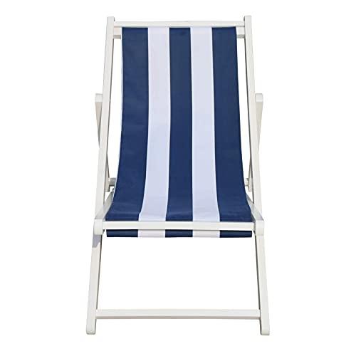 único, etc, Piscina líquida, jardín, incluida la Playa, deseable para Cualquier Espacio Exterior, Plegable, Silla giratoria Populus con amplias Rayas Azules, sillón reclinable Suave y rela
