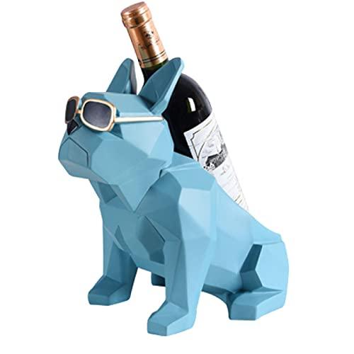 ZYDX Decoraciones para Botelleros y Armarios para Vinos, Adecuado para Sala de Estar, Gabinete de TV, Casa, Exhibición del Gabinete del Vino,Light Blue