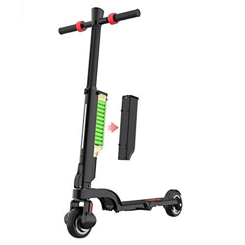JLWDD Patinete Sport – Patinete para viajeros urbanos con Sistema de Plegado rápido con Altavoz Bluetooth