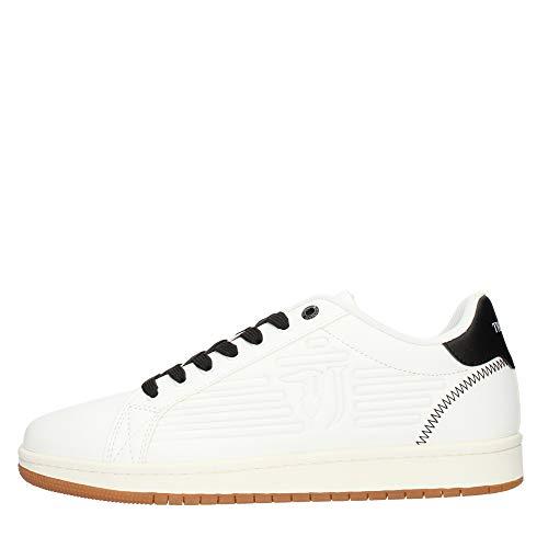 Trussardi Jeans Sneaker ECOLEATHER Logo High F, Scarpe con Lacci Uomo, W601, 40