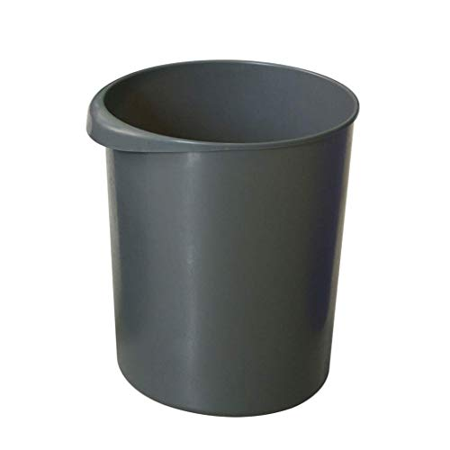 1yess Mülleimer Kunststoff Mülleimer Mülleimer Müll Mülleimer Recycling Box Runde Abfall Mülleimer für Raumschlafzimmer Küche Abfallbehälter (Farbe: grau) (Color : Gray)