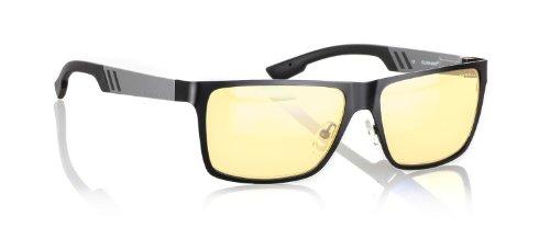 Gunnar Optiks Vinyl Full Rim Ergonomic Advanced Computer Glasses with Amber Lens Tint and Onyx/Gunmetal Frame Finish (VIN-06101)