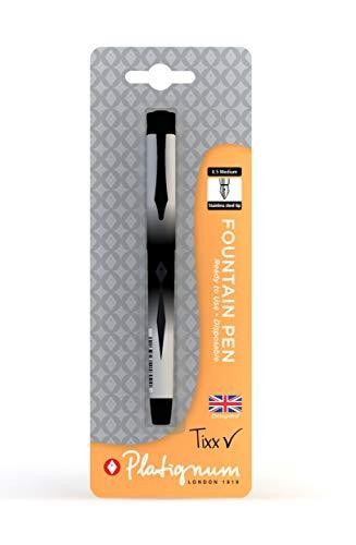Platignum Tixx - Pluma estilográfica (1 unidad, 2000 m, color negro