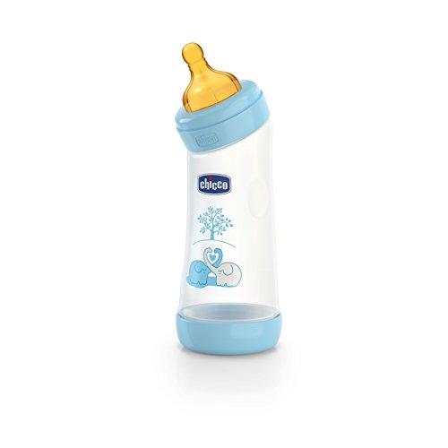 Biberones para recién nacido de Chicco azul. | Diseño infantil.