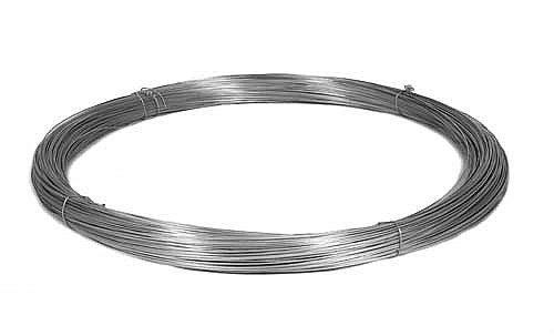 Garmix Spanndraht Bindedraht Verzinkt Maschendraht Zaun Metall Draht (100m, 3,4mm)