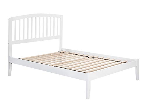 Atlantic Furniture Richmond Platform Bed with Open Foot Board, Full, White