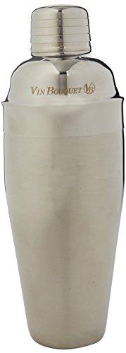 Vin Bouquet Shaker à Cocktail, Argent, 700 ML