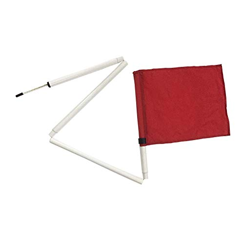 Kosma Set van 4 Inklapbare Hoek Vlaggen Rood met Draagtas | Voetbal Training Hoek Opvouwbare Vlaggen Pole Maat: 5 Ft x 25mm