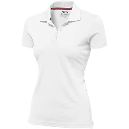 Slazenger Advantage Kurzarm Damen Polo (L, Weiß)