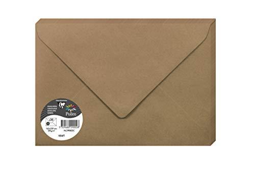 Clairefontaine 29002C Paquete de 20 sobres de polen 16.2 x 22.9 cm 135 g Brown Kraft