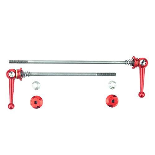 Keenso 2 stücke Ultraleicht Titanium Legierung schnellspanner Set Fahrrad ersatz ersatzteile zubehör(rot)