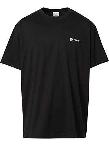 BURBERRY Luxury Fashion Herren 8025657 Schwarz T-Shirt  