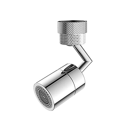 Grifo universal con filtro de salpicaduras, grifo de agua con aireador giratorio de 720 °, con 2 modos de salida de agua, accesorio de grifo de burbujeador giratorio, malla de 4 capas, para baño