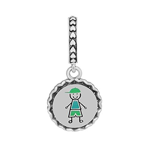 Pandora 925 Plata Niño Figura De Palo Cuelga Cuentas Para Hacer Joyas Pulseras De Joyería Brazaletes Cuentas De Mujer Regalo Exquisito