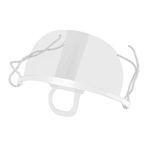 10 Schermi Facciali In Plastica Trasparente, Visiera Protettiva, Mascherine Lavabili E Riutilizzabili Per Protezione Naso Bocca Anche Da Liquidi e Saliva