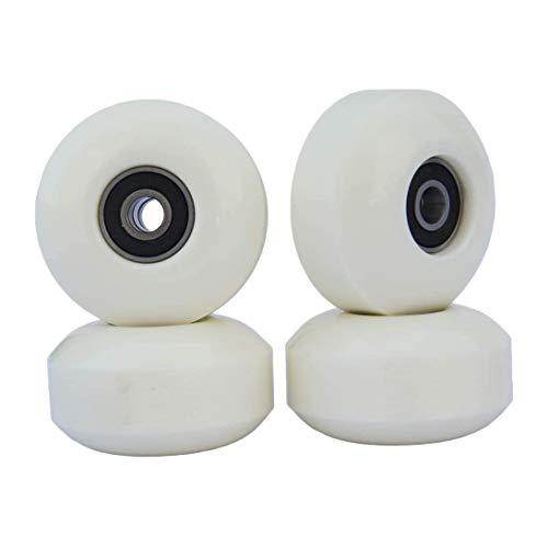 LQNB Skateboard Wheels with Bearings 52x30mm Street PU Wheels Skateboard Parts Cruiser Longboard Wheels (Set of 4) White