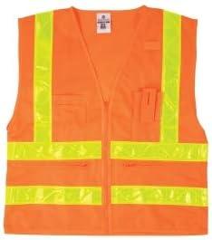 ML Kishigo 1198 Combined Performance 5-Pocket Safety Vest - Orange Medium (3 Units)