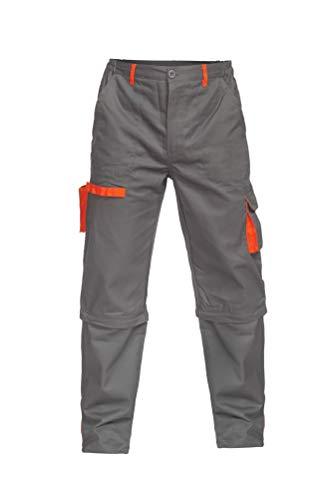 DINOZAVR Sigma Herren Bundhose/Cargohose & Shorts/kurzen Arbeitshosen 2 in 1 Grau XL