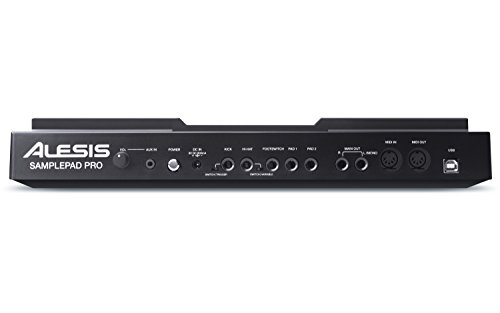 Alesis Sample Pad Pro | Percussion and Sample-Triggering Instrument With Responsive Dual Zone Rubber Pads, Active Blue LED Illumination, Expansion options for 2 more Triggers and 200+ Built-in Sounds