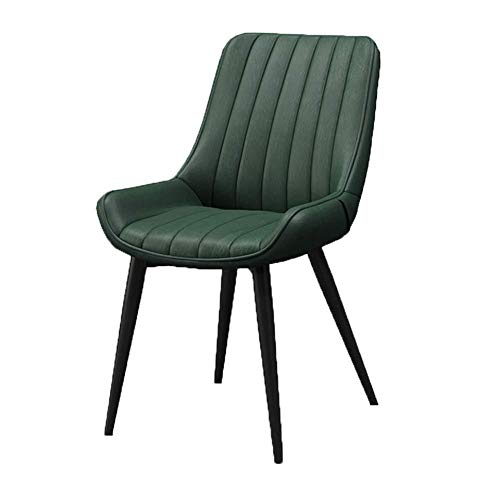 ZCXBHD Scandinavische creatieve vrijetijdshuis-bureaustoel rugleuning/ijsbeen/PU-lederen stoel barkruk/make-upkruk/vrije tijd eetbaar, E