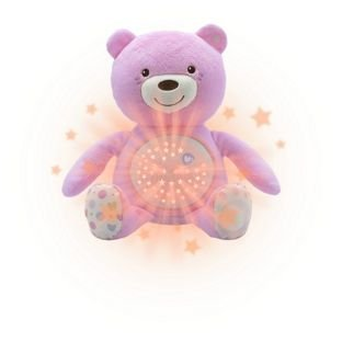 Chicco First Dreams Baby Bear - Proyector nocturno, color rosa