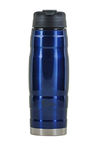 bubba 20oz HERO Stainless Steel Travel Mug Tumbler – These Bubba Water Bottles Keep Drinks Cold for Hours – Ideal for Home, Office or Travel – Leak-Proof, Dishwasher Safe – Classic Blue
