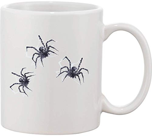 Diseo con tres grandes araas taza de cermica bnft