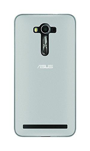 Phonix ASZL5GPW Cover 'Gel Protection Plus' mit Bildschirmschutzfolie, transparentes für Asus Zenfone 2 Laser 14 cm (5,5 Zoll) weiß