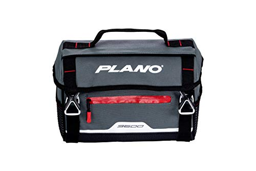 Plano Weekend Series 3600 Softsider Tackle Bag   Premium Tackle Storage Bag with Water-Resistant Front Pocket   Includes Two Plano Stowaway Tackle Boxes, Charcoal